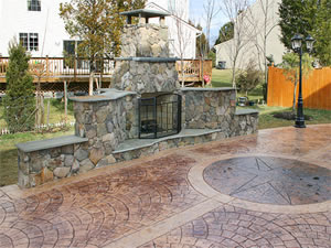 Stamped Concrete Patio Driveway Pool Deck Walkway